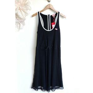 New Hunter Target Black Mesh Sleeveless Dress